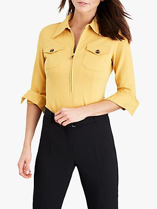 Damsel in a Dress Kadie Trench Ponte Top, Mustard
