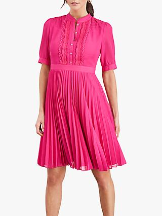 Damsel in a Dress Floria Pleated Dress, Magenta