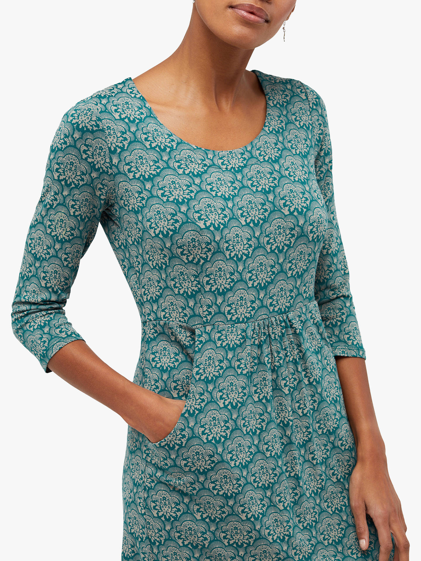 Buy White Stuff Tessa Jersey Dress, Teal Print, 6 Online at johnlewis.com