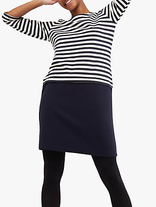 White Stuff Jessica Half Stripe Dress, Ink Navy