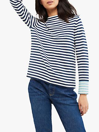 White Stuff Sunny Stripe Jumper, Navy