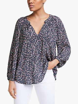 Velvet by Graham & Spencer Printed Challis Top, Azalea