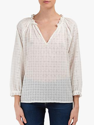 Velvet by Graham & Spencer Eyelet Blouse, Cream