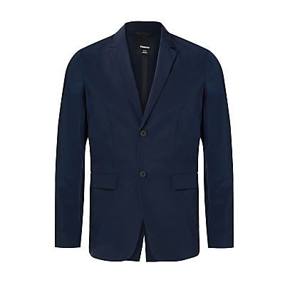 Theory Single Breasted Tailored Fit Blazer, Navy