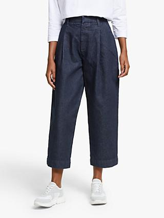 Kin Denim Balloon Trousers, Indigo