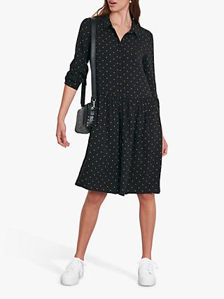 hush Emanuelle Spot Shirt Dress, Black