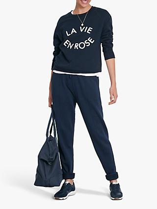 hush La Vie En Rose Slogan Sweat Top, Midnight/Grey