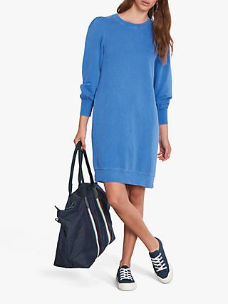 hush Salma Sweat Tunic Dress, Washed Sodalite Blue