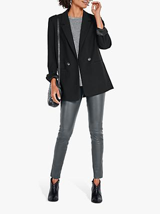 hush Beth One Button Blazer, Black