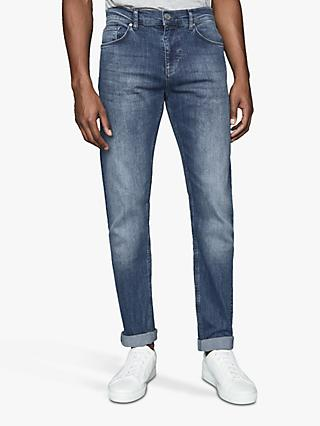 Reiss Pride Washed Slim Fit Jeans, Airforce Blue