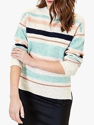 Oasis Sparkle Stripe Jumper, Multi