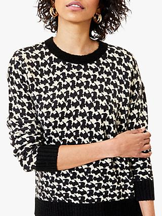 Oasis Dogtooth Jumper, Black/White