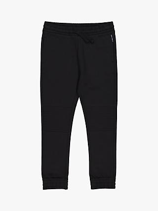 Polarn O. Pyret Children's GOTS Organic Cotton Quilt Knee Joggers, Black