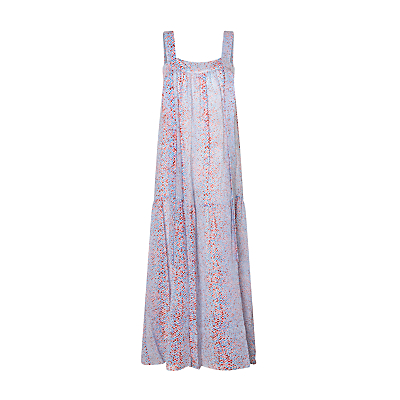See By Chloé Python Print Silk Mix Maxi Dress, Multi