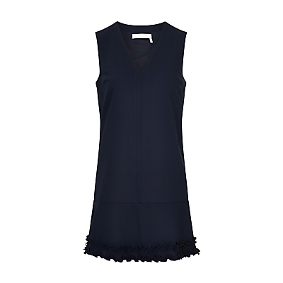 See By Chloé V-Neck Ruffle Hem Dress, Ink Navy
