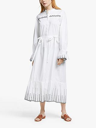 See By Chloé Eyelet Maxi Dress, White