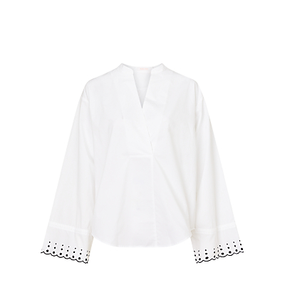 See By Chloé Cotton Eyelet Cuff Blouse, Iconic Milk