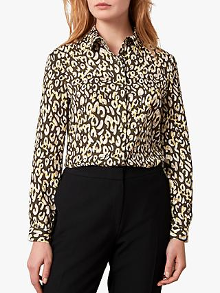 Jaeger Leopard Print Shirt, Yellow