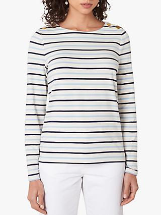 Jaeger Tri-Stripe Top, Blue