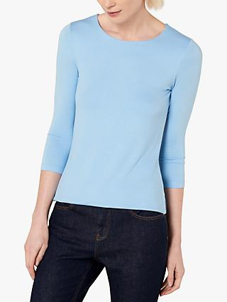 Jaeger Essential Jersey Top, Bright Blue