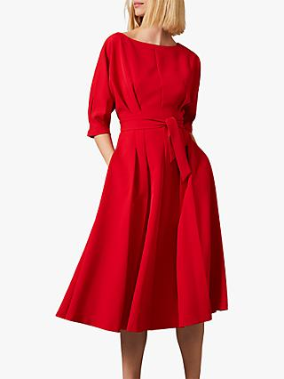 Phase Eight Cleo Tie Waist Dress, Scarlet