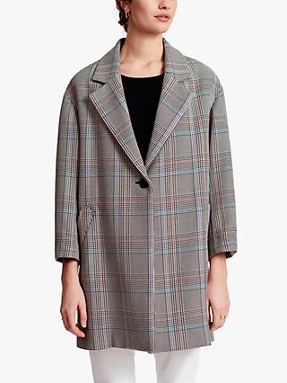 Gerard Darel Rosalia Check Print Coat, Multi