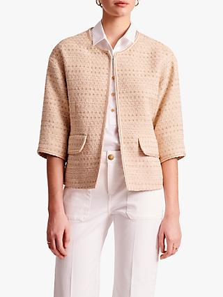 Gerard Darel Agostina Tweed Jacket, Beige