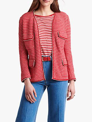 Gerard Darel Amadea Tweed Jacket, Red