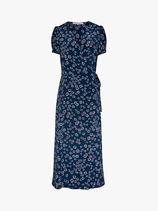 Gerard Darel Sara Floral Print Wrap Dress, Blue