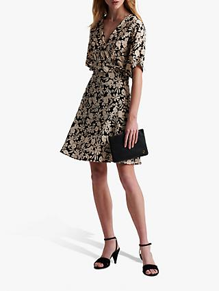Gerard Darel Sabrina Floral Print Mini Dress, Black