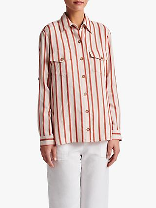 Gerard Darel Nerina Striped Blouse, Beige