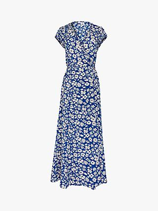 Gerard Darel Susy Floral Midi Dress, Blue