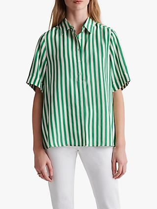 Gerard Darel Nadege Striped Blouse, Green