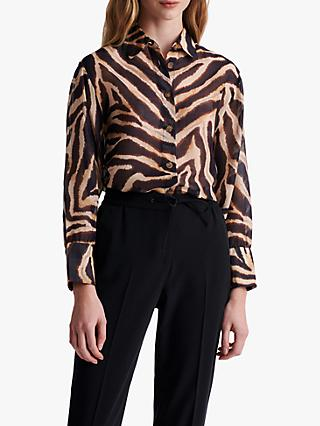 Gerard Darel Nais Animal Print Blouse, Brown