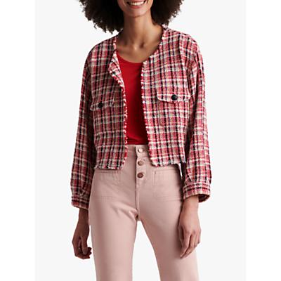 Gerard Darel Alba Check Jacket, Pink