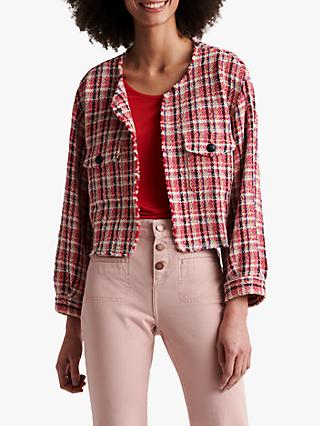 Gerard Darel Alba Check Jacket, Pink
