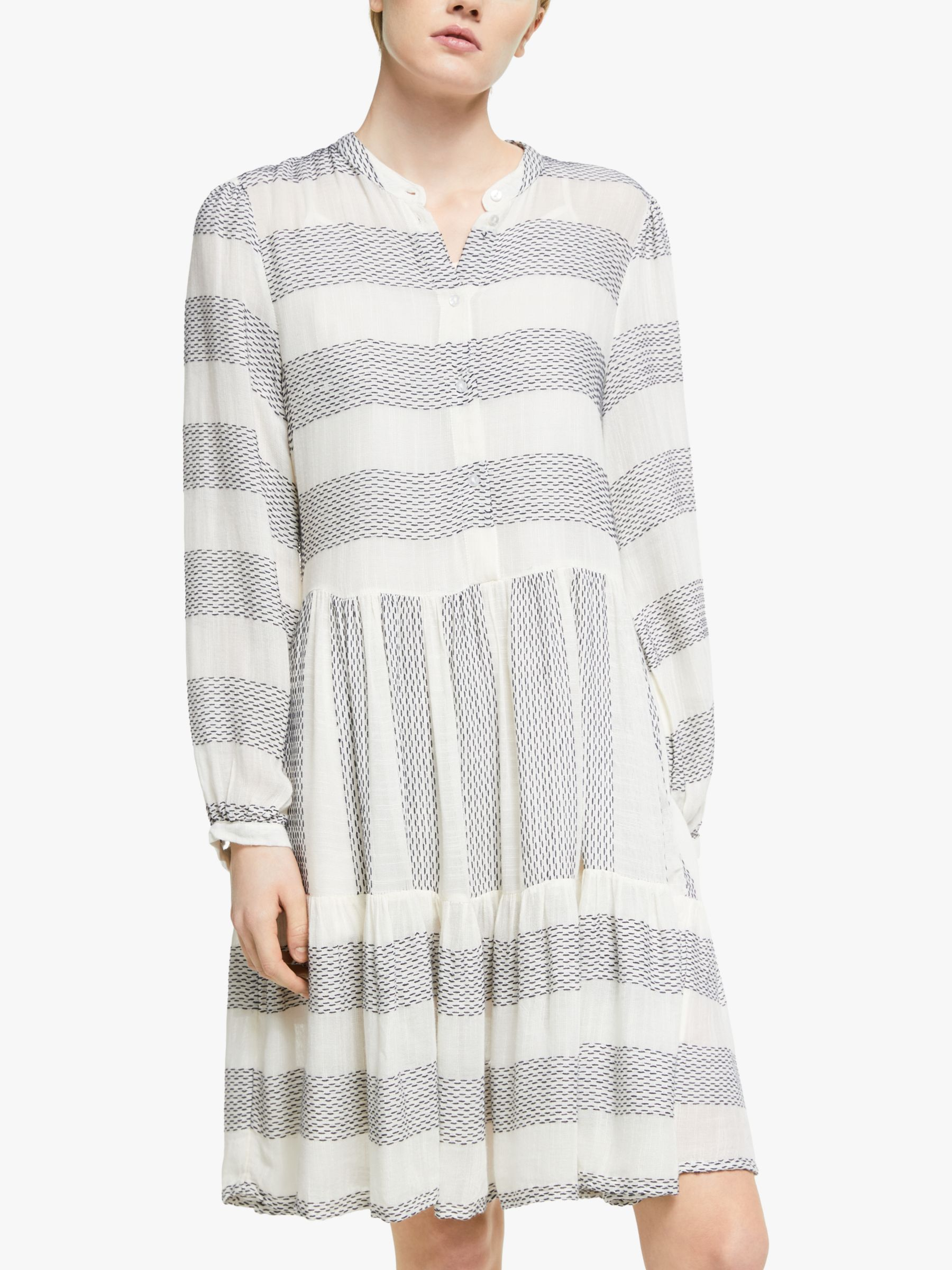 Numph Numph Yaslamali Stripe Shirt Dress, Eggnog