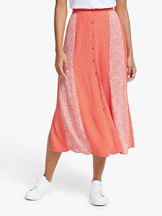 Y.A.S Mixed Print Midi Skirt, Tiara