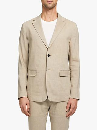 Theory Clinton Crunch Linen Blend Blazer, Natural
