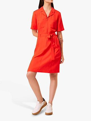 French Connection Ezno Drape Belted Dress
