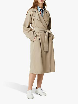 French Connection Zula Trench Coat, Silver Mink