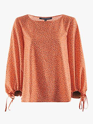 French Connection Chinwe Light Gathered Sleeve Top