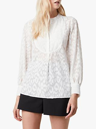French Connection Asante Coupe Blouse, Summer White