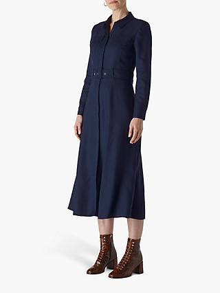 Whistles Military Shirt Dress, Navy
