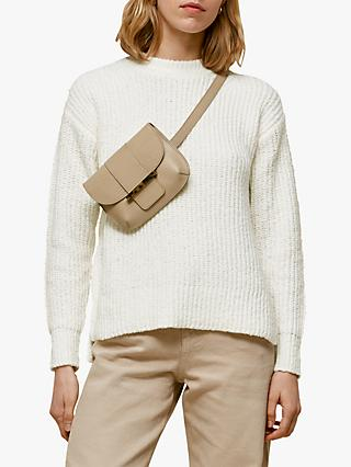 Whistles Madeline Textured Knit Jumper, Ivory