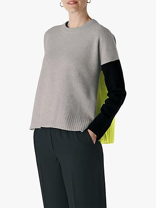 Whistles Freida Colour Block Knit Jumper, Multi