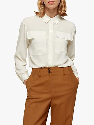 Whistles Textured Pocket Blouse