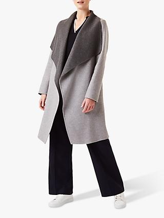 Hobbs Gabriella Wool Blend Coat, Grey