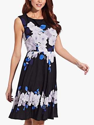 Adrianna Papell Shadow Rose Dress, Multi