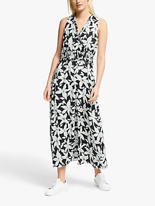Joie Yashi Floral Print Midi Dress, Deep Sea